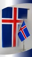 Íslenski hátíðar og borðfáni
