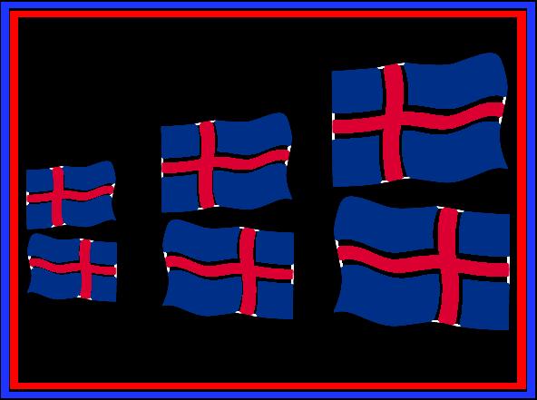 Límmiðar fánar